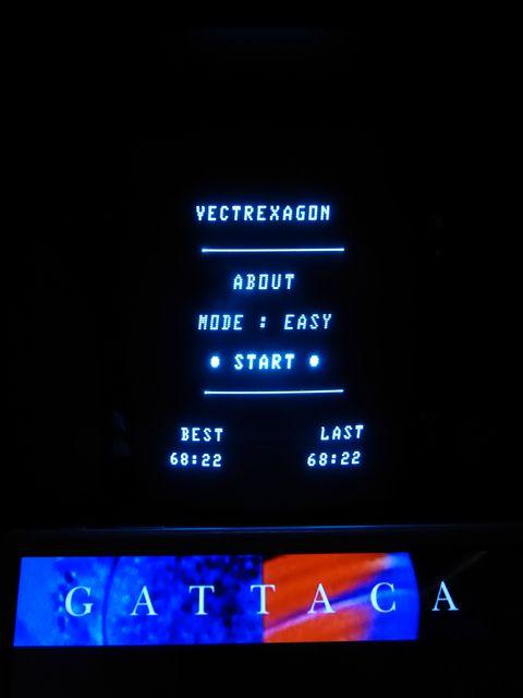 Vectrexagon Highscore 68.22